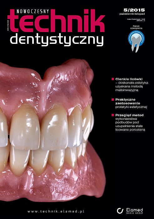 Nowoczesny Technik Dentystyczny wydanie nr 5/2015