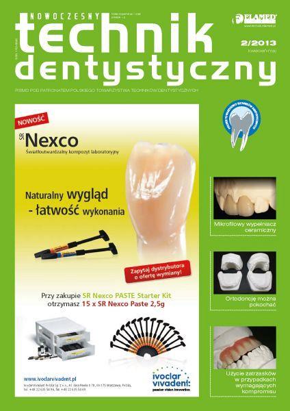 Nowoczesny Technik Dentystyczny wydanie nr 2/2013