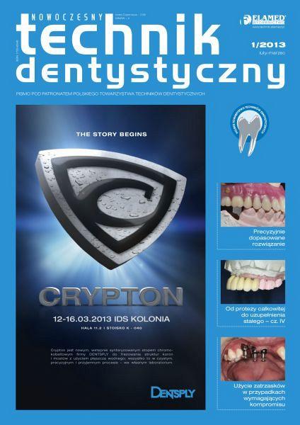 Nowoczesny Technik Dentystyczny wydanie nr 1/2013